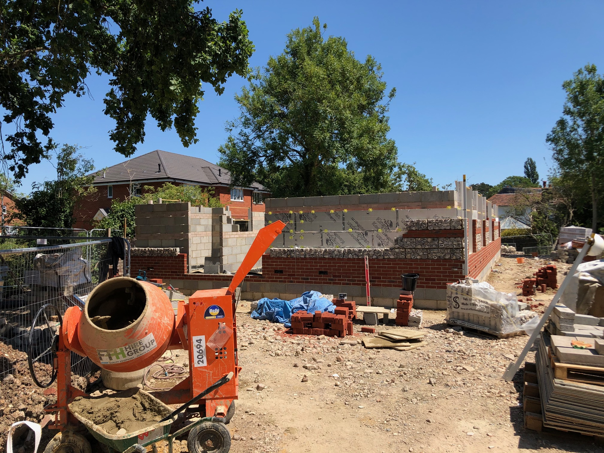 care home construction on site
