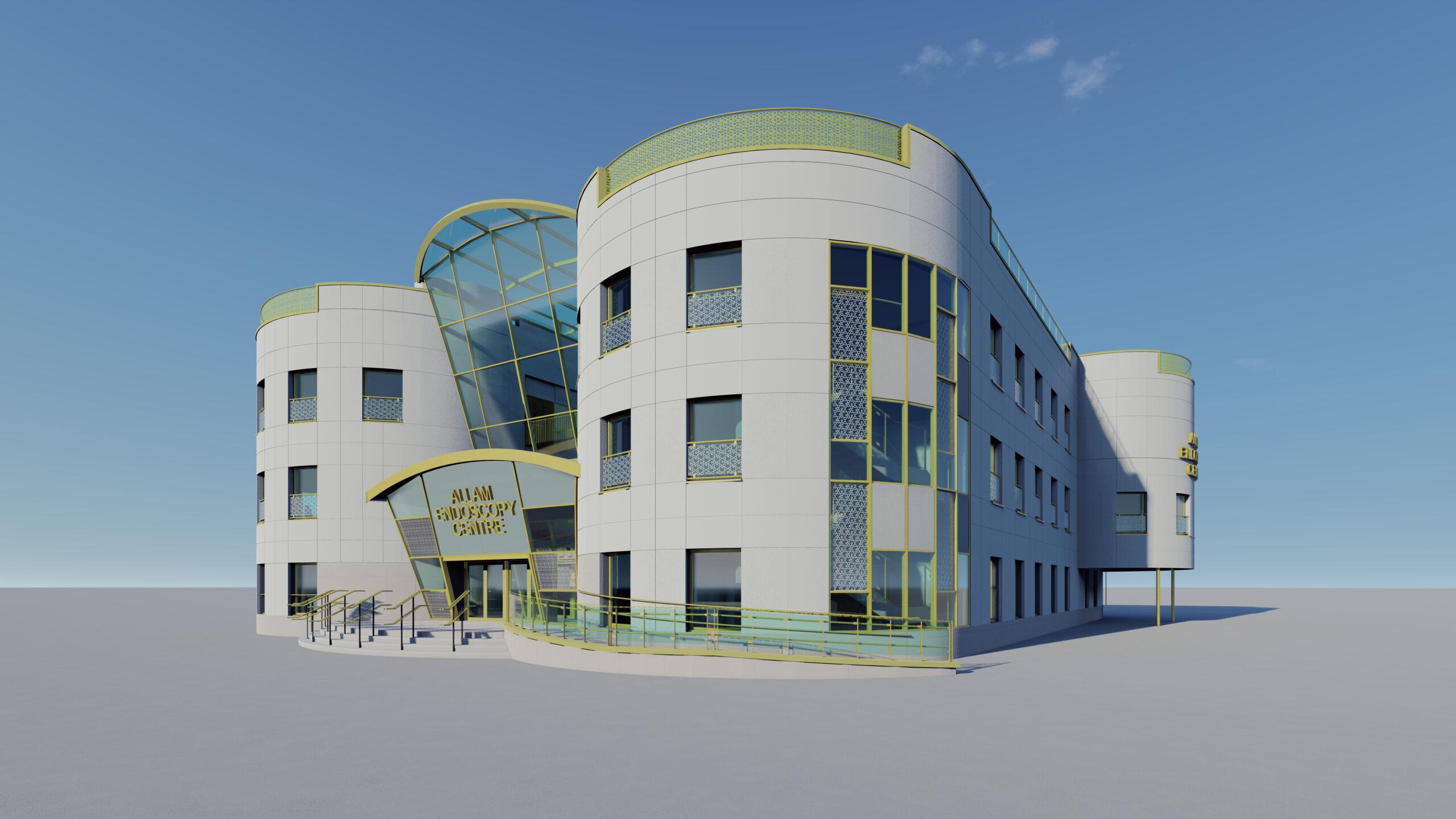 Allam Endoscopy Centre's Architectural Design - 3D Visualisation