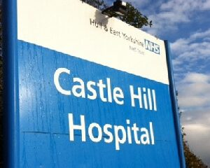 Castle Hill Hospital's Sign