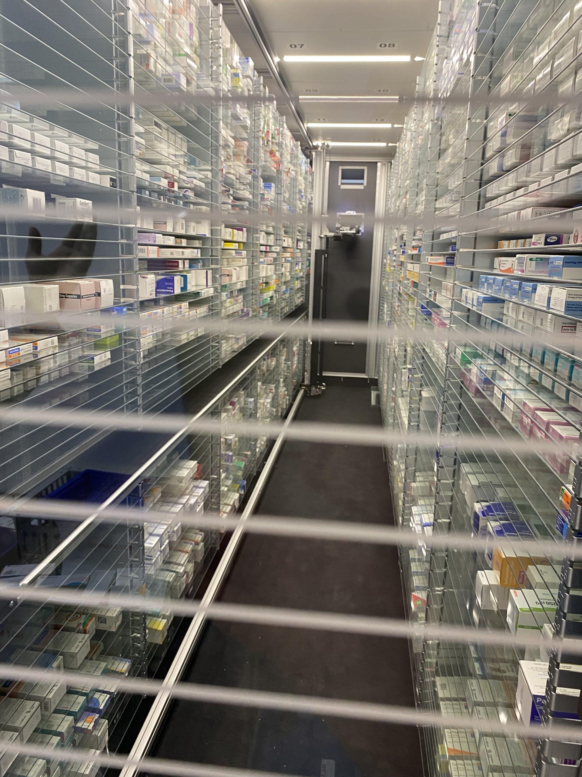 Alessandro Caruso Architects design pharmacy robot refurbishment