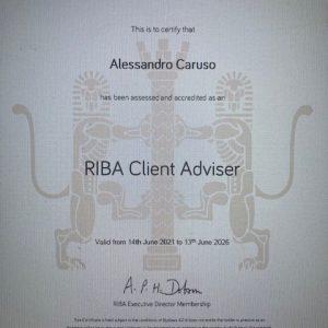 Alessandro Caruso is a RIBA Client Adviser