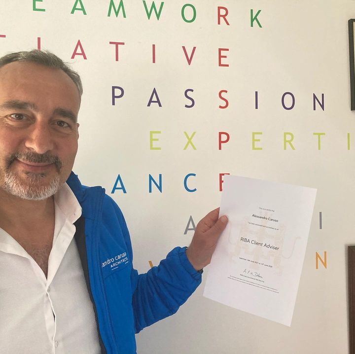 Alex Caruso is a RIBA Client Adviser