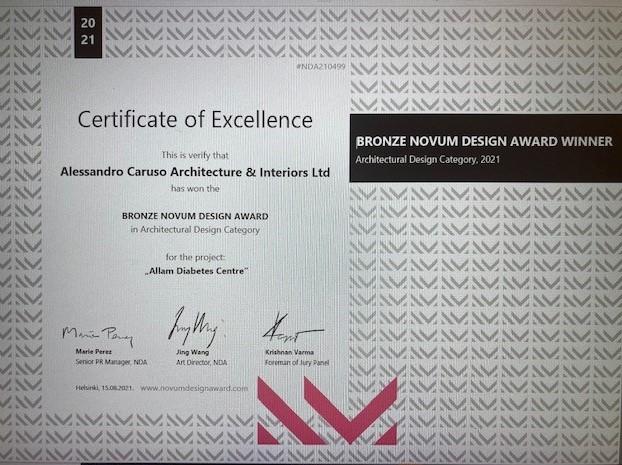 ACA win international design award for the Allam Diabetes Centre